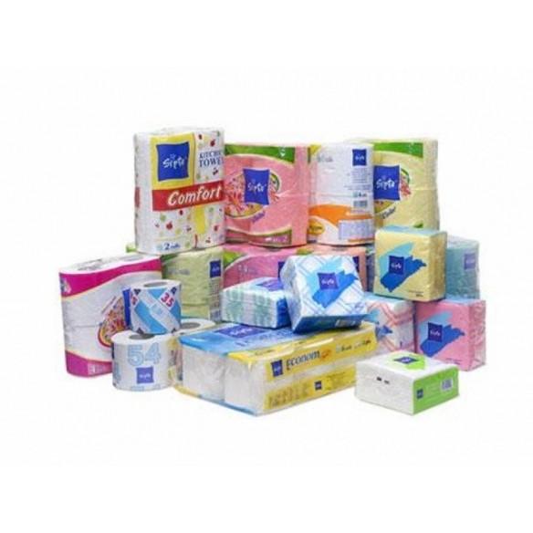 Туалетная бумага, бумажные полотенца, салфетки