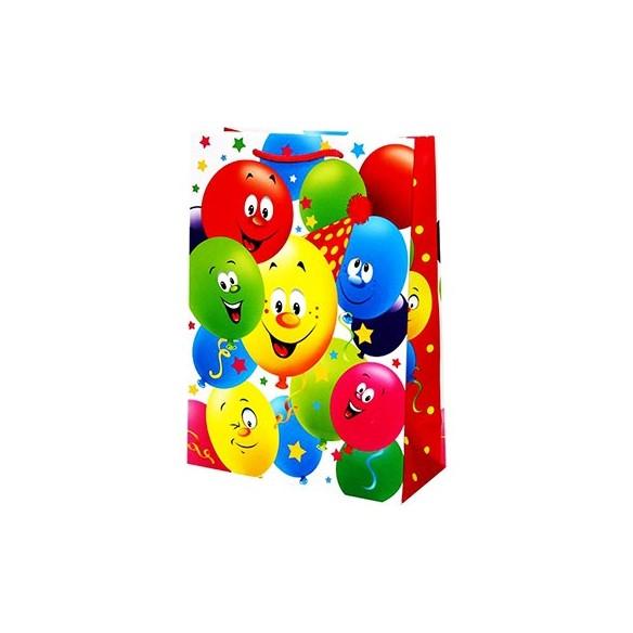 Наклейки, шар воздушный, пакет подарочный, фликеры